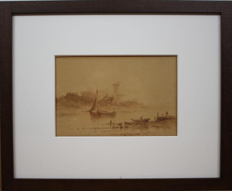 te_koop_aangeboden_een_sepiatekening_van_de_nederlandse_kunstschilder_johannes_hilverdink_1813-1902_hollandse_romantiek_19e_eeuw