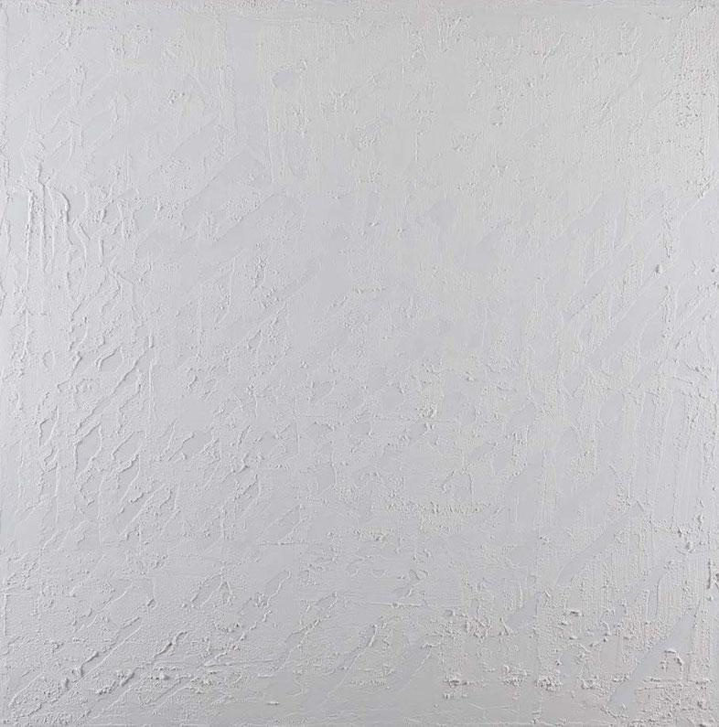 White noise 1.Acrilico su tela.100x100.2014  Collezione prvata