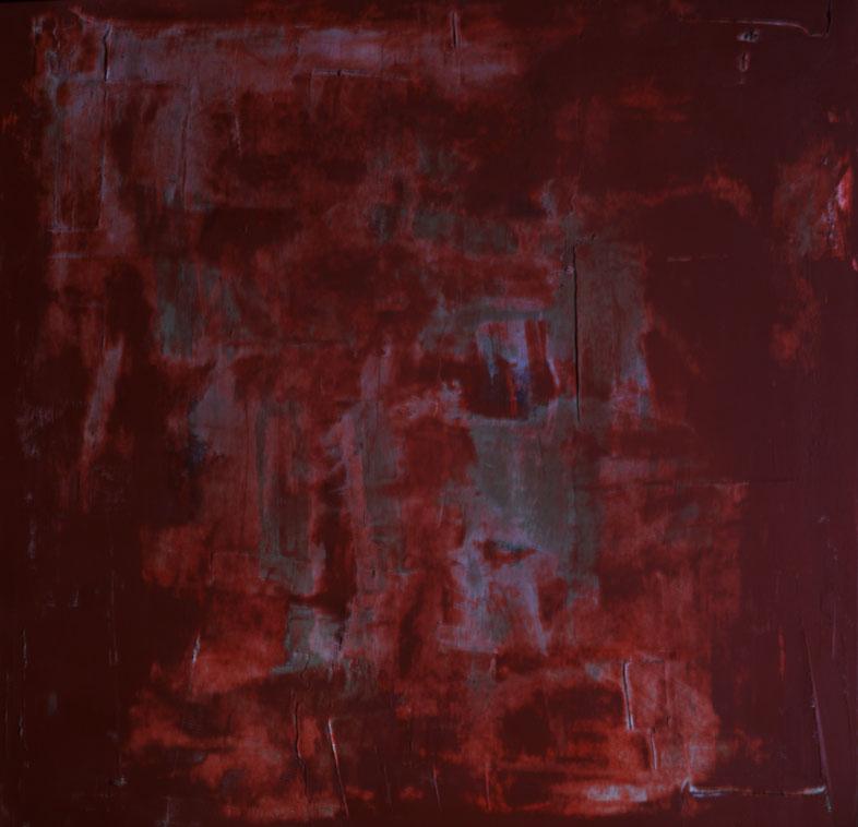 I colori di Roma.Acrilico su tela.100x100.2015  Collezione privata