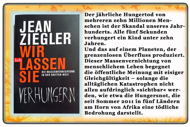 Jean Ziegler - Wir lassen sie verhungern