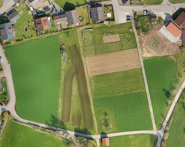 """Orthophoto vom Baugebiet """"Schwalldorf - Beim Sportplatz"""""""