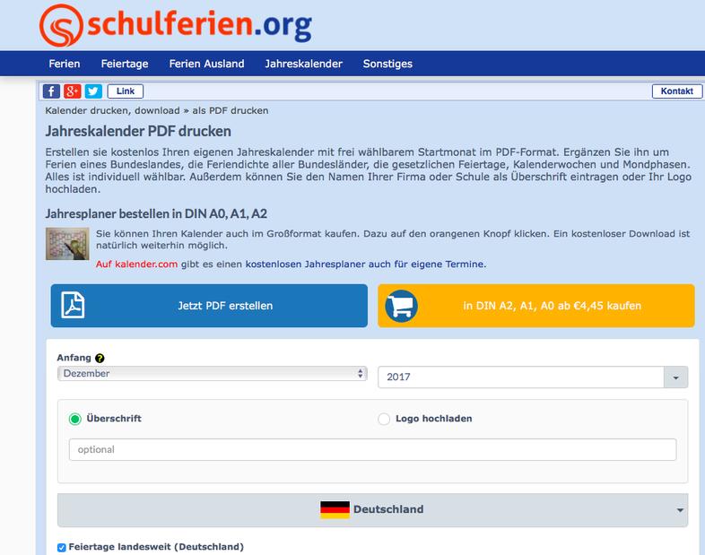 Empfehlung: www.schulferien.org