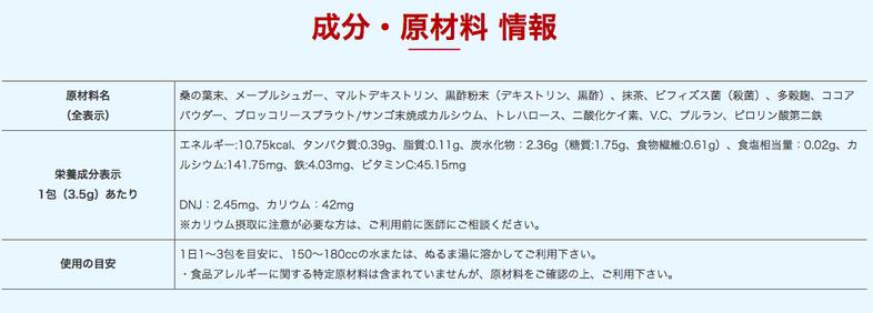 黒酢青汁原料