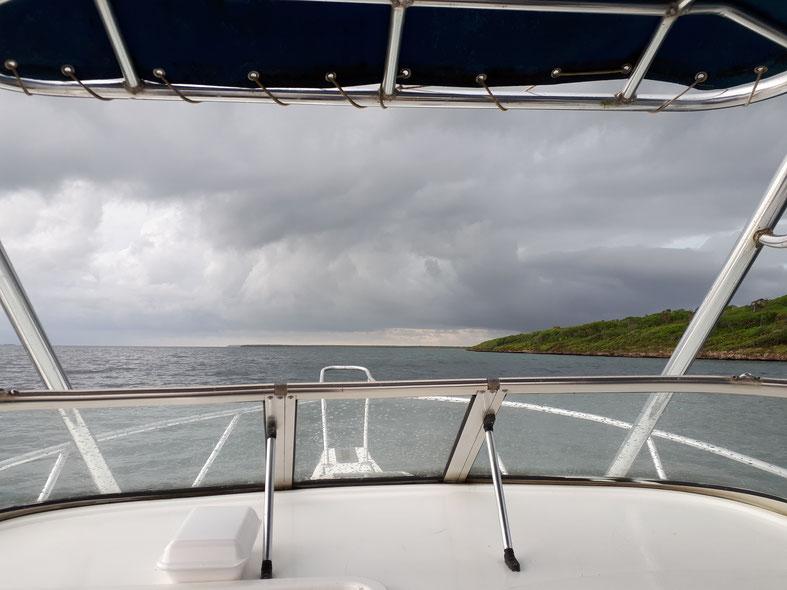 Karibik Unwetter Wolken Angelausflug