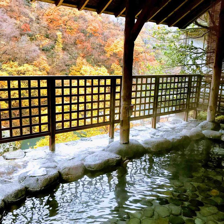 秋の空中露天風呂