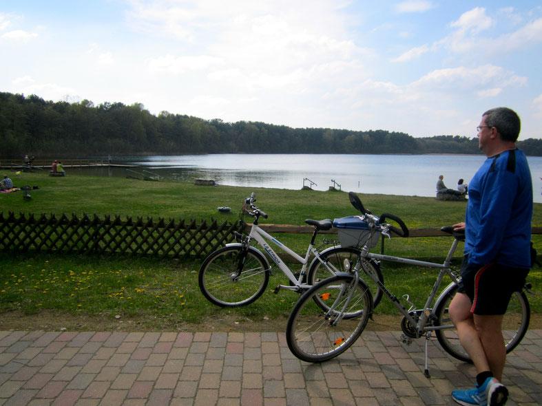 Rad fahren, Mecklenburgischen Seenplatte, Weißer See, Wesenberg, Radeln, Urlaub