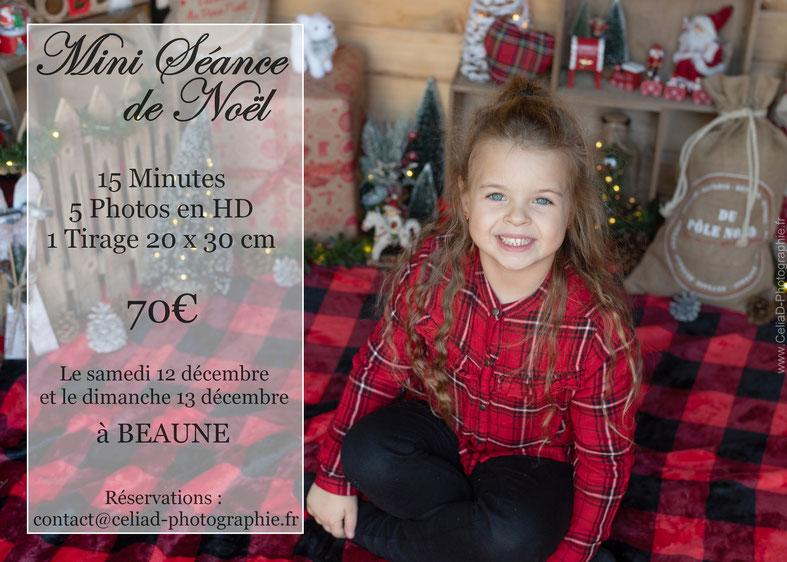 Mini-séances photo de Noël photographe Beaune famille