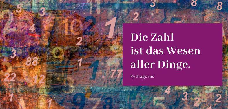 """""""Die Zahl ist das Wesen aller Dinge"""" Pythagoras Zitat, Gastbeitrag """"Lieber glücklich mit Numerologie"""" von Silke Kromer #Numerologie"""