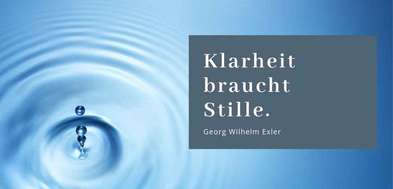 Gastbeitrag zu Klarheit von Erika Sippel, Blogreihe Lieber glücklich von A bis Z #Klarheit #Glück #Stille
