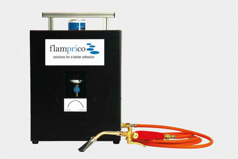 Bild flamprico Basis zur flammenpyrolyse