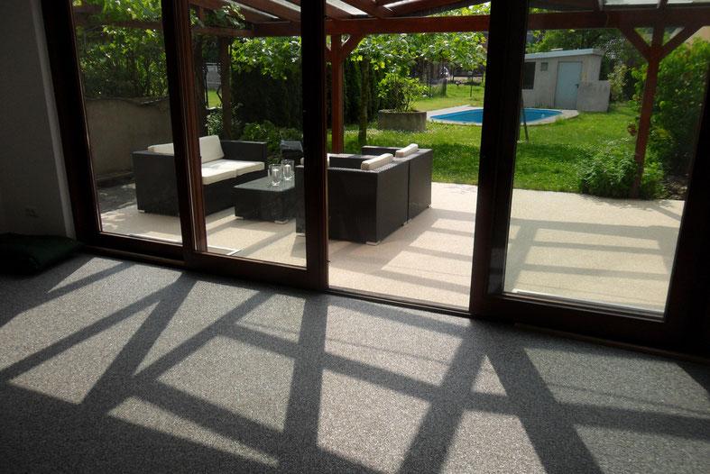 Steinteppich für Innen und Außen