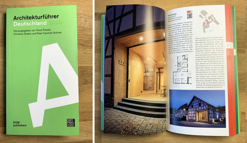 """Veröffentlichung """"Projekt Scheunenumbau, Redwitz"""" im Deutschen Architekturführer 2020"""