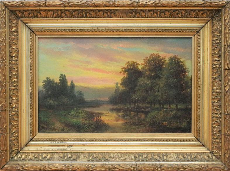 te_koop_aangeboden_een_landschaps_schilderij_van_de_nederlandse_kunstschilder_hermanus_jan_hendrik_rijkelijkhuysen_1813-1883