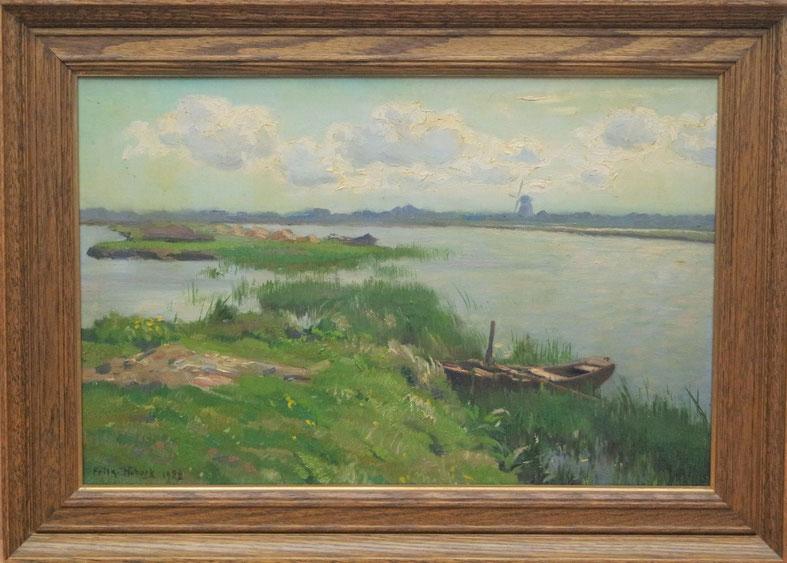 te_koop_aangeboden_een_landschaps_schilderij_van_de_kunstschilder_frits_hubeek_1884-1952