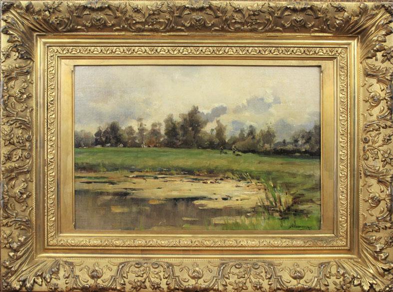 te_koop_aangeboden_een_landschaps_schilderij_van_de_haagse_school_kunstschilder_jan_hillebrand_wijsmuller_1855-1925