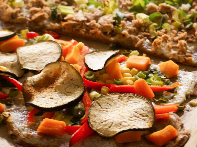 Rezept für unseren vegetarischen Vollkorn-Flammkuchen