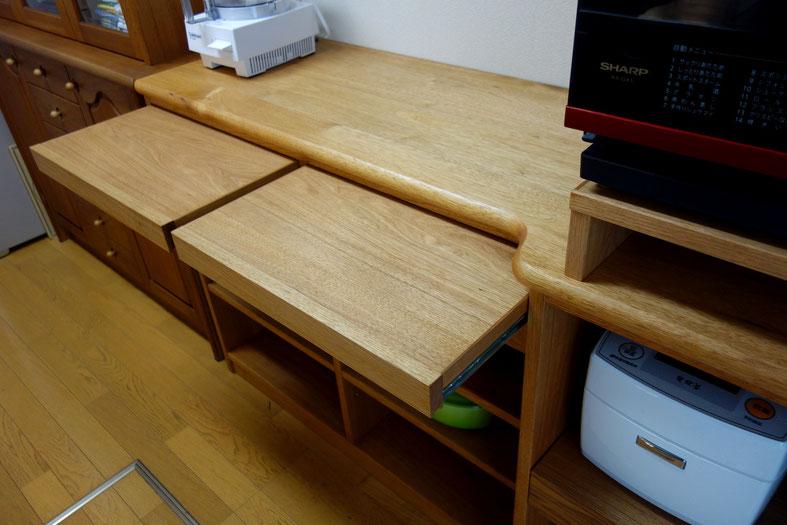 キッチン収納(川崎市・O様邸)のスライド棚
