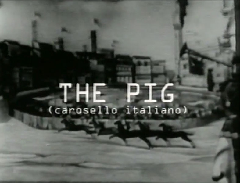 "Gianni Pettena, movie ""The Pig ""Carosello Italiano"", 1967-68"