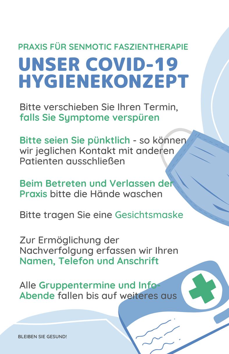 Hygienemassnahmen der Praxis für Faszien Therapie Wiesbaden.