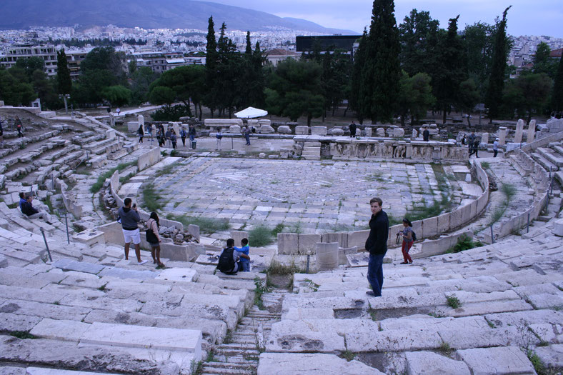 Athens Greece Acropolis Theatre of Dionysus ofpenguinsandelephants of penguins and elephants