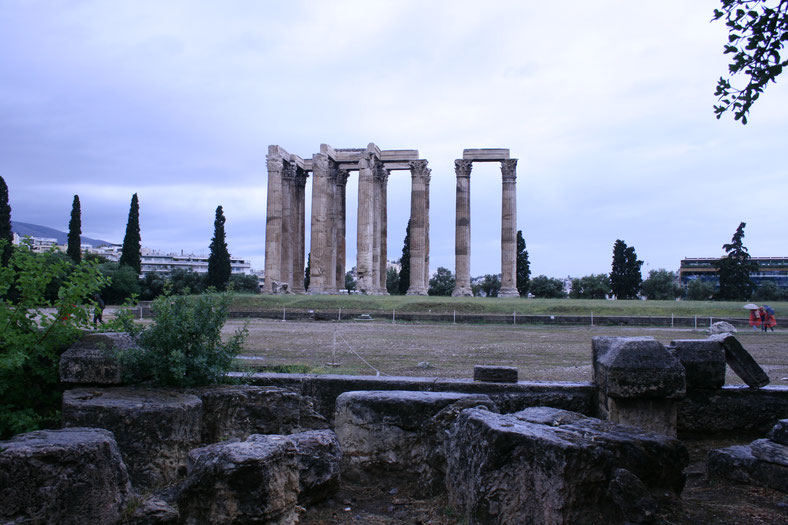 Athens Greece Olympieion Temple of Olympian Zeus ofpenguinsandelephants of penguins and elephants
