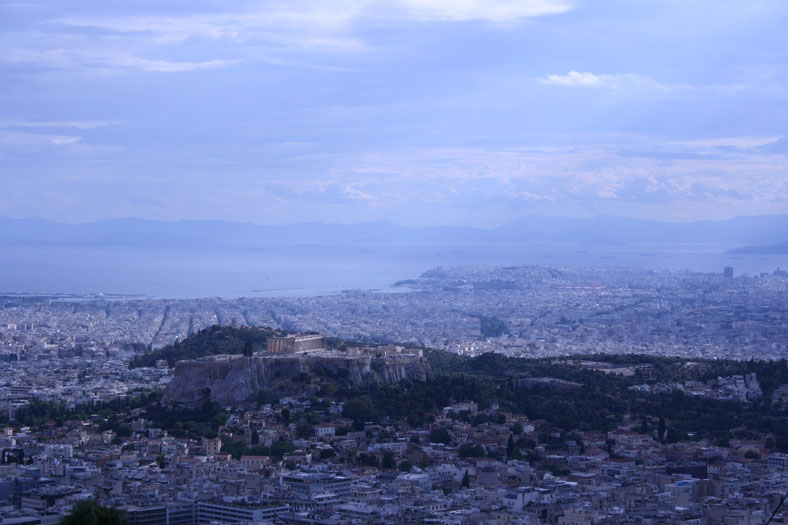 Athens Greece Acropolis view Lycabettos hill of penguins and elephants ofpenguinsandelephants