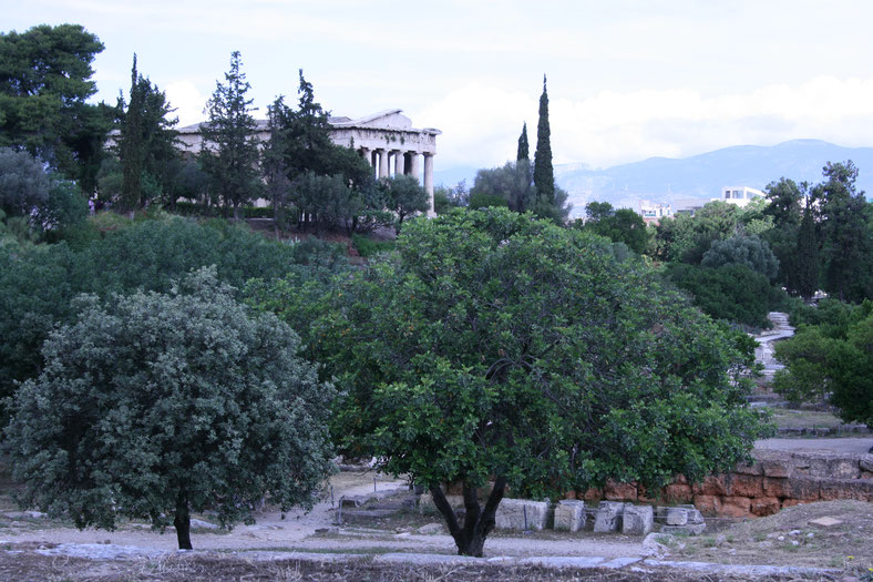 Athens Greece Temple of Hephaestus ofpenguinsandelephants of penguins and elephants ancient