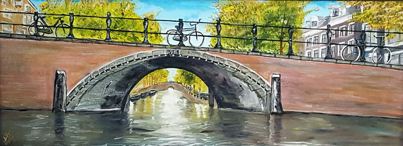 Amsterdam canal nature  30x80cm