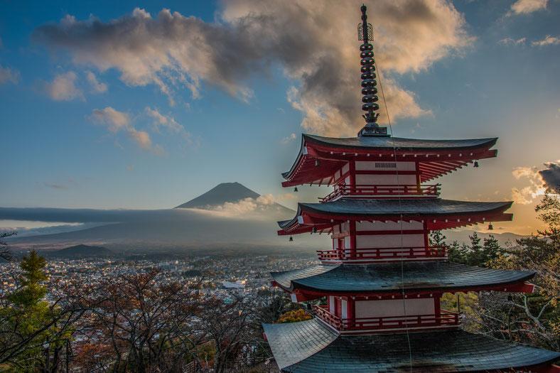 Monte Fuji dalla Pagoda Chureito