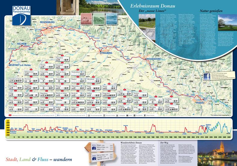 Übersichtskarte Donau-Panoramaweg