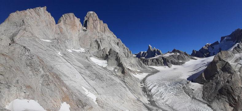 Blick auf Fitz Roy und Cerro Torre, Paso del Cuadrado