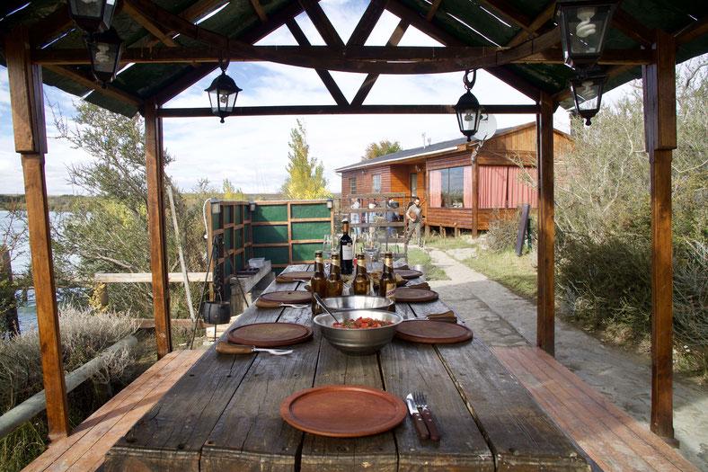 Mittagessen auf der Los Plateaus Lodge