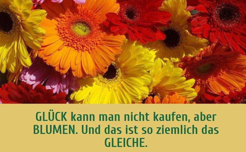 """Glück kann man nicht kaufen, aber Blumen. Und das ist so ziemlich das Gleiche. Gastbeitrag über Blumen von Manuela Goohsen in der Blogreihe """"Lieber glücklich von A is Z"""" #Blumen #Glück #Freude #Blog"""