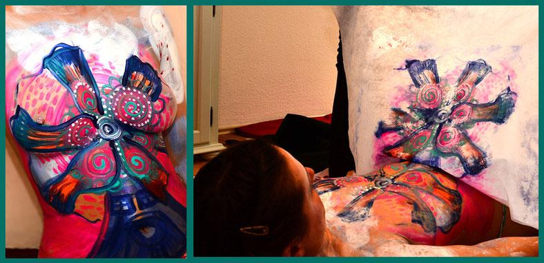 Gastbeitrag von Annett Oehme über Bodypainting Blogreihe Lieber glücklich von A bis Z, Katja Otto Lebensberaterin ganzheitliche kreative Lebenshilfe in Berlin Schöneberg #Bodypainting #Massage #Lebensberatung