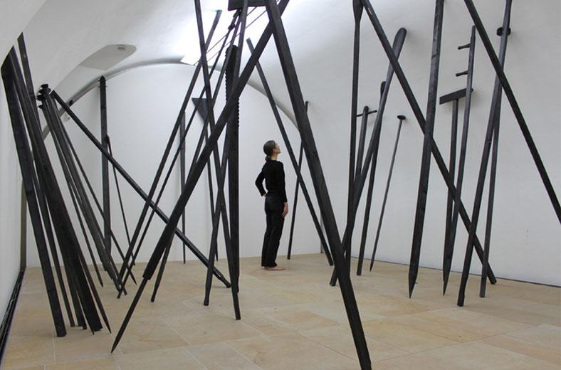 """""""Stecken und Stab"""" - 2012 - Situation: Kunstpalais Erlangen"""