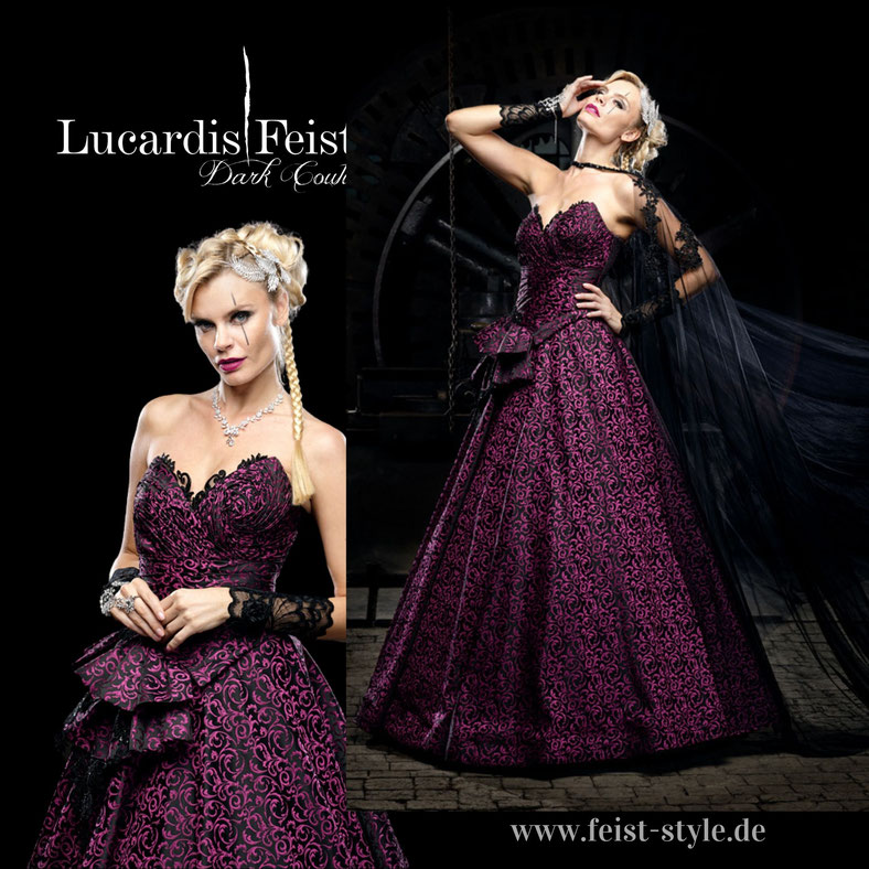 Farbige Brautkleider, bunte Brautkleider, Alternative Brautmode, besondere Brautmode, Feist Style