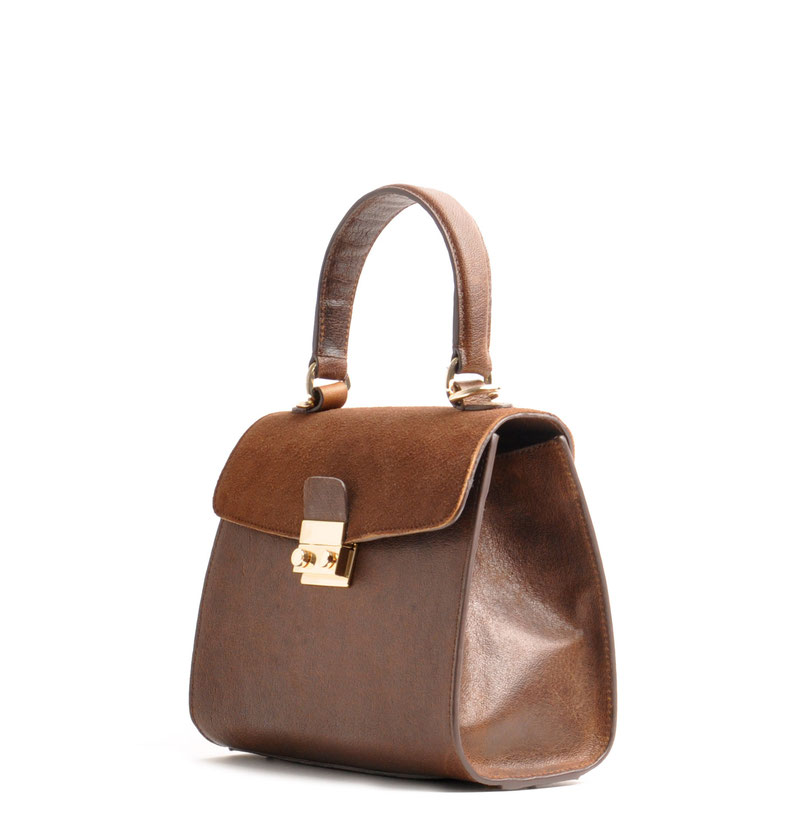 Online-Shop OWA Tracht  exklusive  Dirndltasche CLOE versandkostenfrei kaufen. Hochwertiges Leder. Handlebag . Shoulderbag . Minibag . Detailansicht