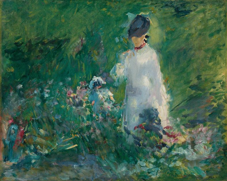 Manet, Jeune femme parmi les fleurs