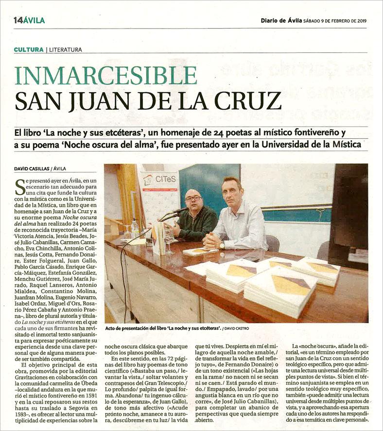 La noche y sus etcéteras - 24 voces alrededor de san Juan de la Cruz - Juan Gallo, Fernando Donaire