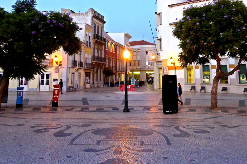 Portuguese tiled pavement on the Faro esplanade
