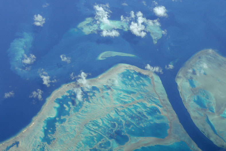 Reefs and channels