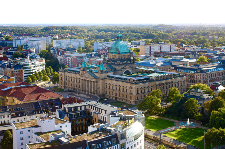 City of Leipzig in East Germany