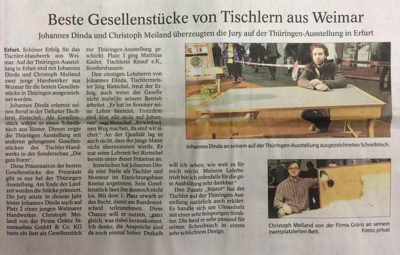 """Pressebericht aus der """"Thüringer Allgemeinen"""" vom 06.03.2018"""