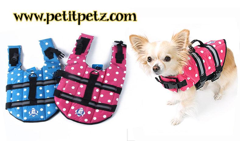 Chaleco salvavidas para perros toy miniatura petit petz for Piscinas para perros baratas