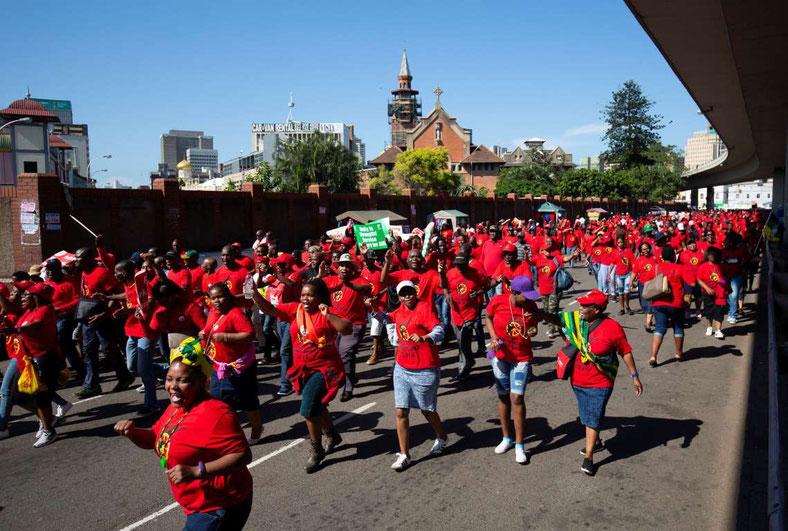 Primo maggio 2018, Durban (Sud Africa)