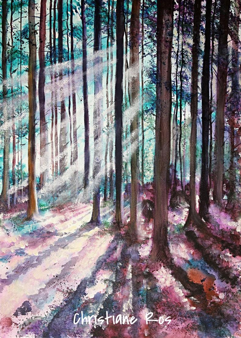 gemaltes Bild Wald © Christiane Ros