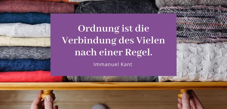Ordnung ist die Verbindung des Vielen nach einer Regel (Immanuel Kant) - Gastbeitrag von Andrea Schäuble zu Ordnung, Die Freiräumerin