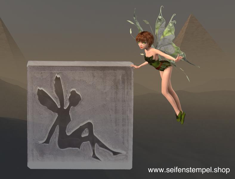 www.seifenstempel.shop, Seifenstempel aus Acrylglas, Motiv Elfe-2