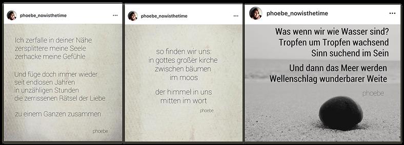 Phoebes Poesie (veröffentlicht auf Instagram)