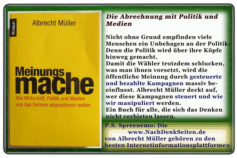 Albrecht Müller - Meinungsmache